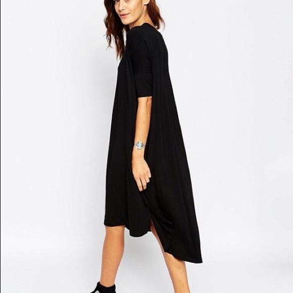 a1feca2bb1d ASOS Dresses   Skirts - ASOS Oversize T-Shirt Dress With Curved Hem